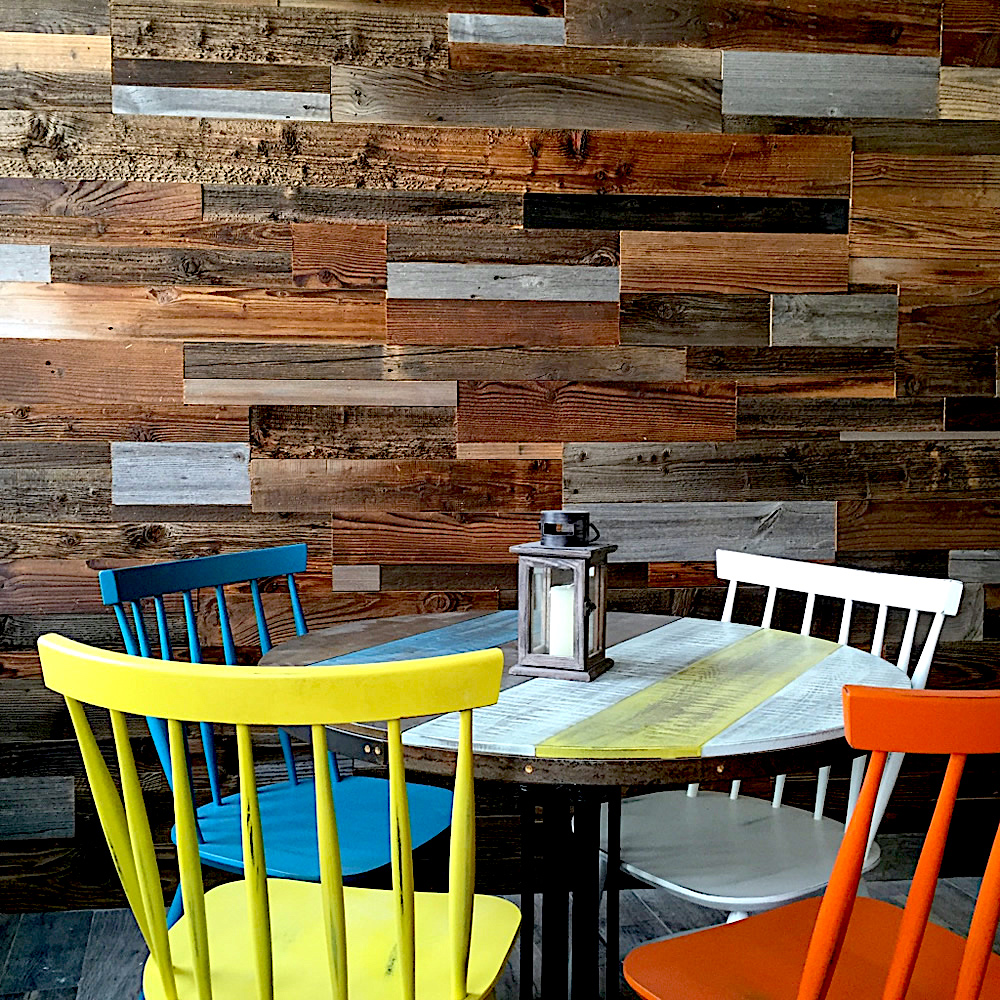 Patchwork Siding And Recycled Wood